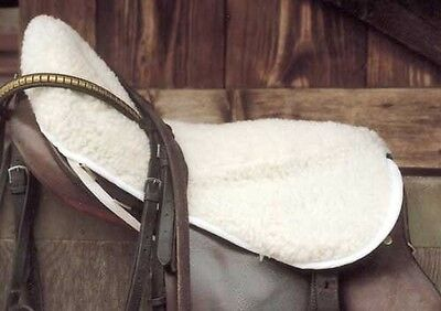"""SALE-Rhinegold Faux Sheepskin Fabric Seat Saver-Cover-PONY-Fits up to 16""""-Free P"""