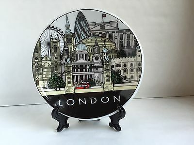London Decoration Plate With Stand & Wall Hook British Souvenir Christmas Gift