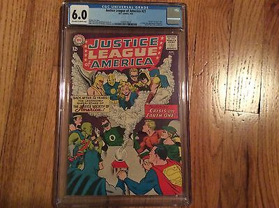 Justice League Of America 21 CGC 6.0 FN OW/W Pgs Re-Intro of the JSA JLA