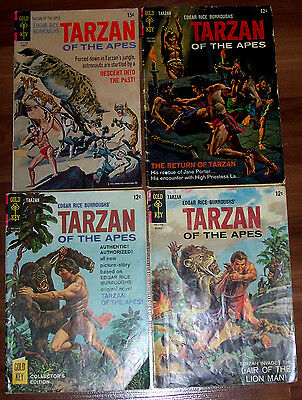 TARZAN #153,155,156,202 Gold Key Comics! 4 Classic Issues! ERB! LQQK