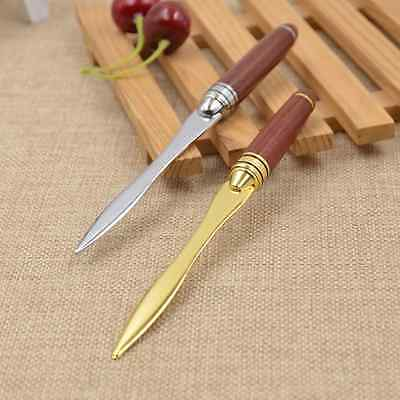 1 Pc Letter Opener Stainless Steel Wood Handle Briefopener Cutting Supplies