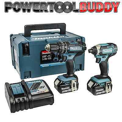 MAKITA DLX2131JX1 18volt Li-ion Combi/Impact Kit 2 x 3.0amp Batteries