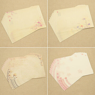 Multi Pattern Chinese Style Writing Letter Paper 8 Pcs Student Stationery Random