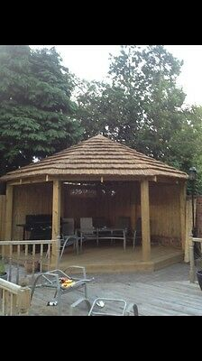 Thatched Wooden Pergola / Garden / House/ Decking /wood Timber Services