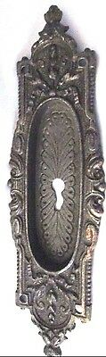 Antique Brass Decorative/Ornate Keyhole Plate/Escutcheon .. Black