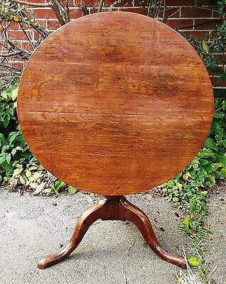 Solid Oak Antique Georgian Tilt Top Table 24 inch diameter Delivery Possible