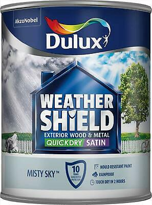 Dulux Weathershield Exterior Satin 750ml Paint All Colours Available NEW