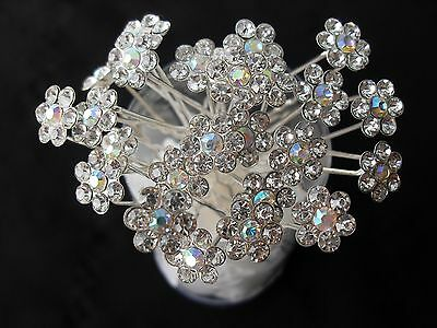 10pcs flower crystal bridal hair pins hair accessories wedding party A