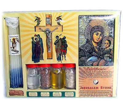 7 in 1 Earth Water Oil Incense Candle Holy Land Bible Christian Jesus Gift Set