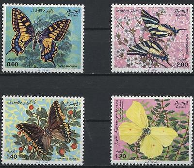 ALGERIA 1981 BUTTERFLIES Set of 4 MNH Stamps. Scott#668 - 671. Cat.Val.$6.45  E