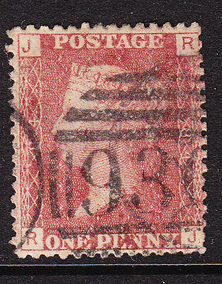GB  1858 - QV - 1d Red Plate 84 Position  J-R