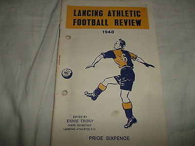 Lancing Athletic Football Review 1948 Edited By Ernie Trory
