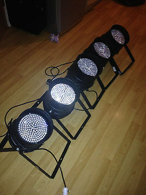5x Stairville LED PAR Can Lights Black Floor Stand