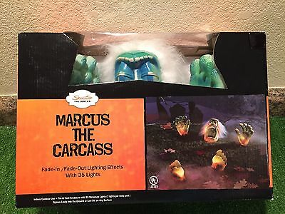 Last New Halloween Marcus The Carcass Lighted Outdoor Blow Mold Yard Decoration