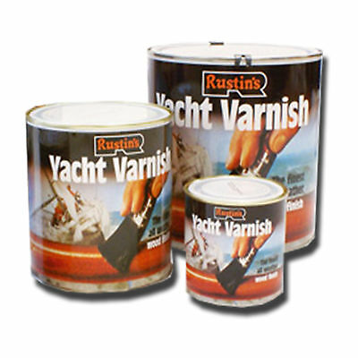 Rustins Yacht Varnish Gloss For Marine & External Wood in 2.5L 1L 500ml 250ml