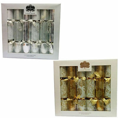 "Christmas Crackers 12 Pack Luxury 14"" Family Xmas Party Cracker Presents Gifts"