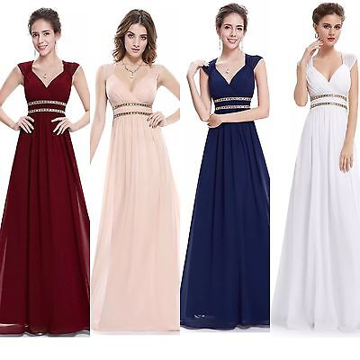 UK Long Formal Evening Prom Party Dress Bridesmaid Dresses Ball Gown Cocktail 8