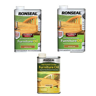 Ronseal Ultimate Protection Hardwood Furniture Oil 1L in Various Colours New