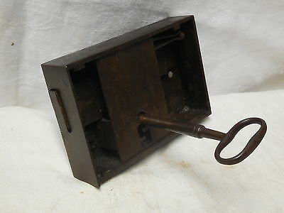 Original 17th century  cast iron Key and chest lock-works!original from Italy