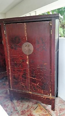(TWO) Antique c1750's Chinese wardrope,wedding cabinet