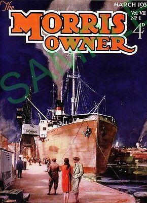 Morris Owners Cover March 1930 exported Morris docks