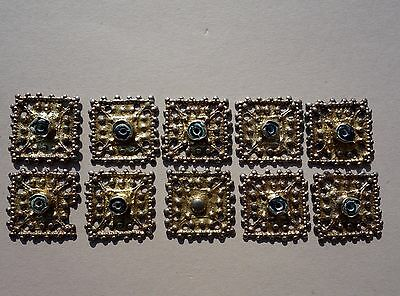 lot of ten Roman - Middle Ages silver gilt jewelry,worn on the forehead and hair