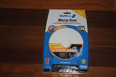 Smoke Alarm Quell 10 Year Worry- Free Photoelectric *brand New*