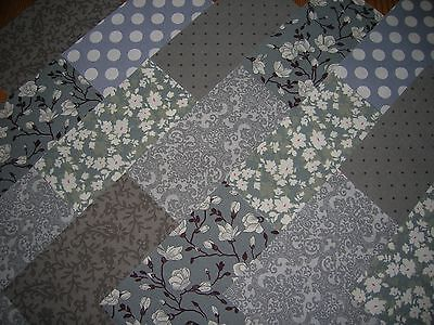 "48 x 5"" CHARM PACK GREY  100% COTTON PATCHWORK/QUILTING/CRAFTS GR2"