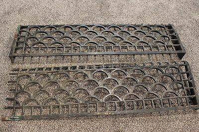 Set of Two Antique Vintage Victorian Heat Grate Register Vent Covers #7