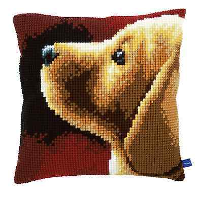 Vervaco Counted Cross Stitch Kit Labrador (dog) Cushion Front PN-0154767