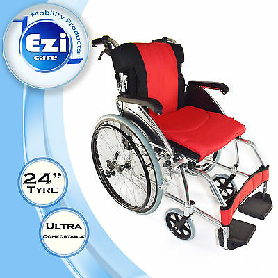 Red cushion Folding backdrop Wheelchair Ezi-Care Age Care Mobility Product