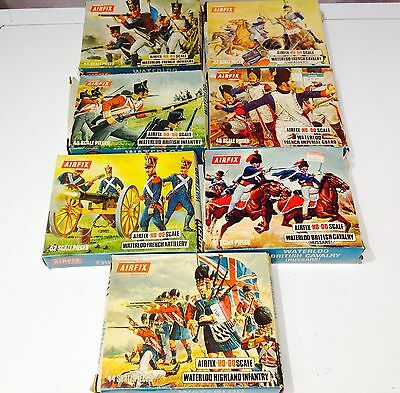 VINTAGE AIRFIX HO-OO SCALE WATERLOO* Figures Boxed Military Infantry French/uk