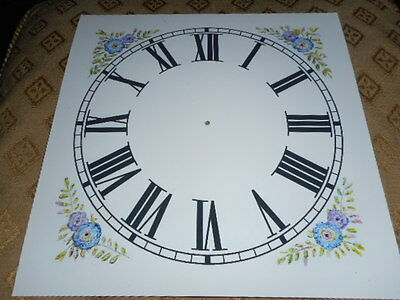 "Paper Clock Dial - 9"" M/T - Roman - Corner Designs-Matt White -Face/ Clock Parts"