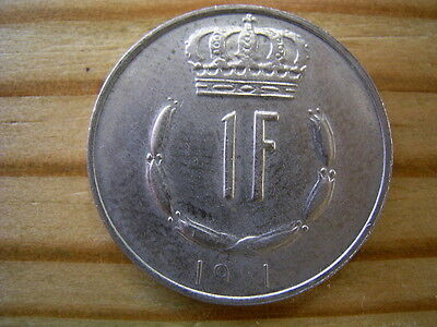 1981  Luxembourg 1 Franc Coin Collectable