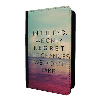 Life Sayings Quotes Passport Holder Case Cover - Regret - S-A1214