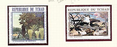 Chad 1968 Air. Paintings by Henri Rousseau set of 2
