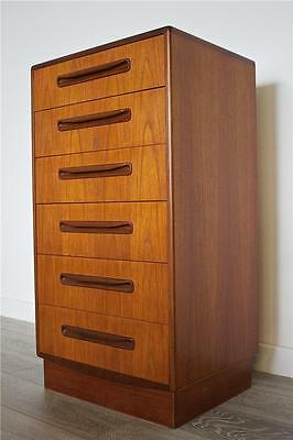 DELIVERY £50Mid Century Retro Danish Style Teak G Plan Tallboy Chest Of Drawers