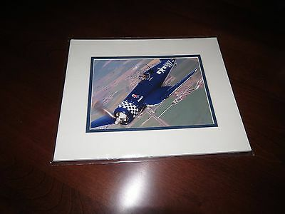 """Smithsonian F4U Corsair Color Photo Print 8"""" x 10"""" With Double Mat NEW IN PKG"""