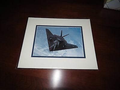 """Smithsonian F-117 Nighthaw Color Photo Print 8"""" x 10"""" With Double Mat NEW IN PKG"""