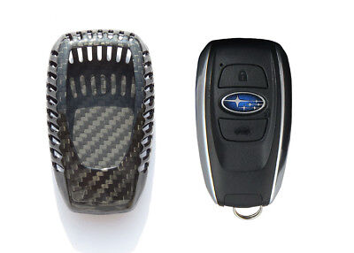 Pinalloy Pure Real Carbon Fiber Remote Smart Key Shell Holder Cover For Subaru
