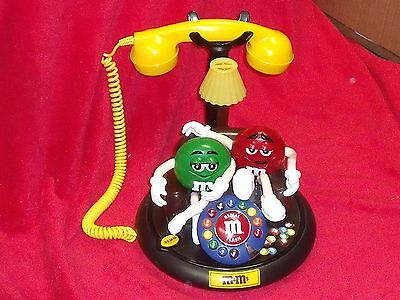 M&M Corded Animated Talking Telephone  Character Phone Licensed Collectible