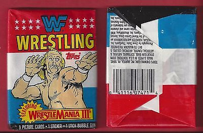 Topps 1987 WF Wrestling single Wax Pack