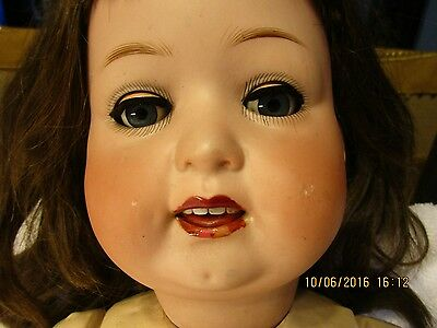 """Vintage Bisque Head Doll, Composit Body, 22-23"""" Tall, Germany, D.R.G.M. 267*8"""