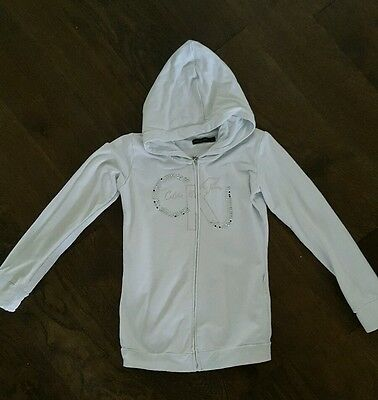 Girls white ck jeans  hoodie age 8