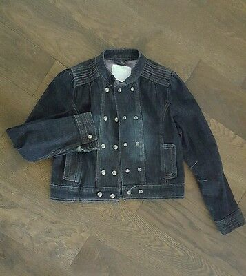 Girls jeans denim french jacket age 9 to 10 dark navy blue Verbaudet