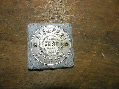 Vintage Alberene Stone Co. Vintage Advertising Paper Weight Soapstone