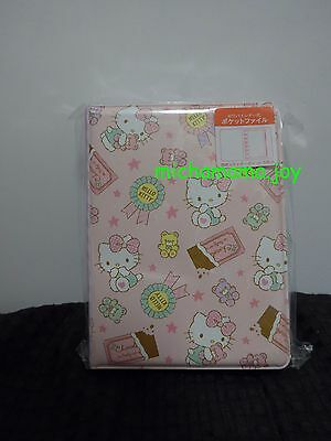 Sanrio Hello Kitty 6 ring Vinyl cover  agenda schedule case plastic binder