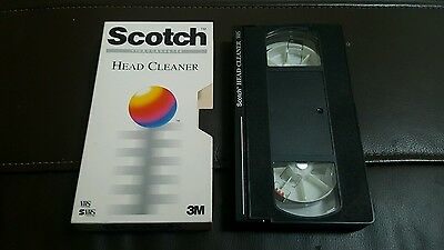 Scotch Video VHS cassette Head Cleaner Plus 3m perfect condition retro tape