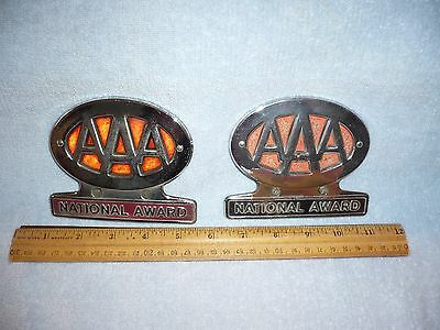 AAA American Automobile Association National Award License Toppers Lot of 2