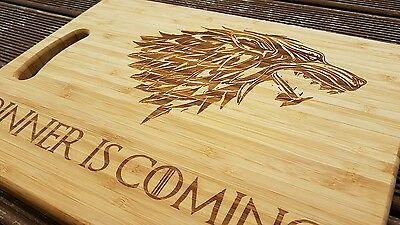 Game Of Thrones Dinner Is Coming Chopping/cheese Board - Winter Lion - Christmas